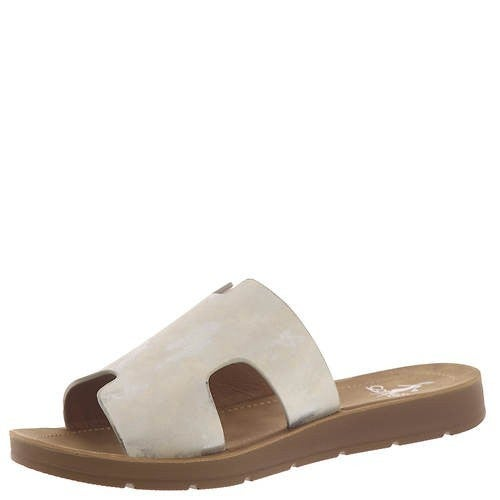 Corky's White Metallic Sandals