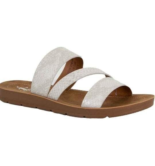 White Snake Sandals