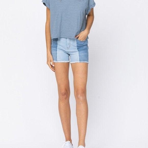 Judy Blue Contrast Shorts