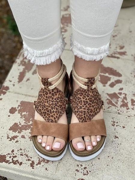 Corky's Leopard Sandals