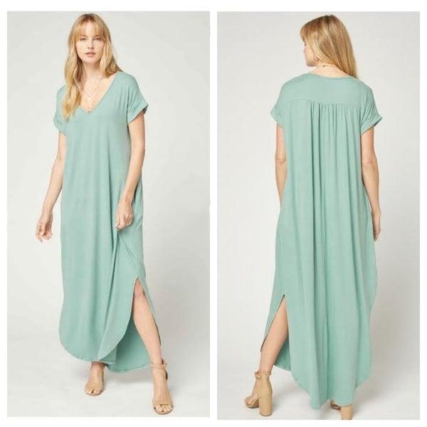 Mint T-Shirt Maxi Dress
