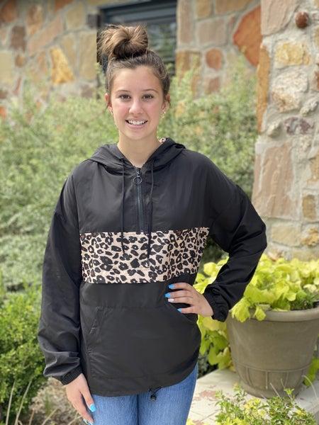 Leopard Hoodie Windbreaker
