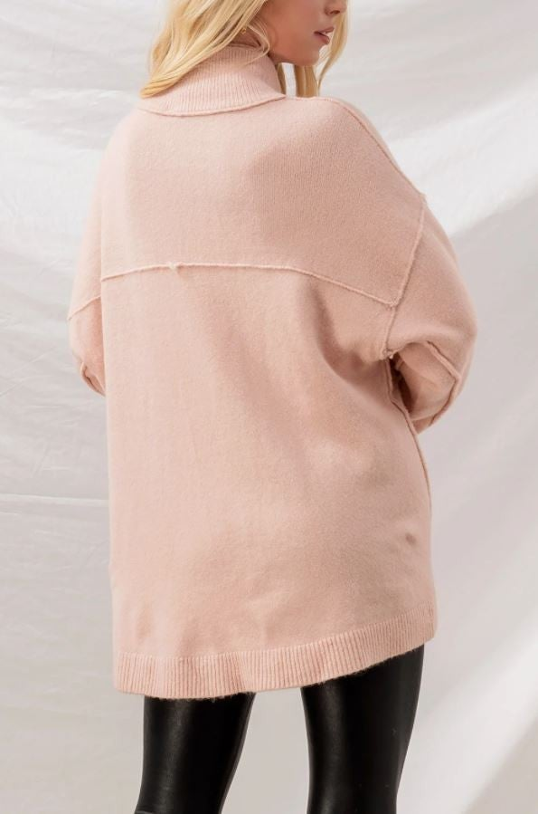 Double Layered Mock Neck Sweater