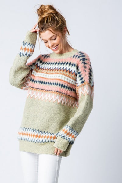 Sage Round Neck Sweater