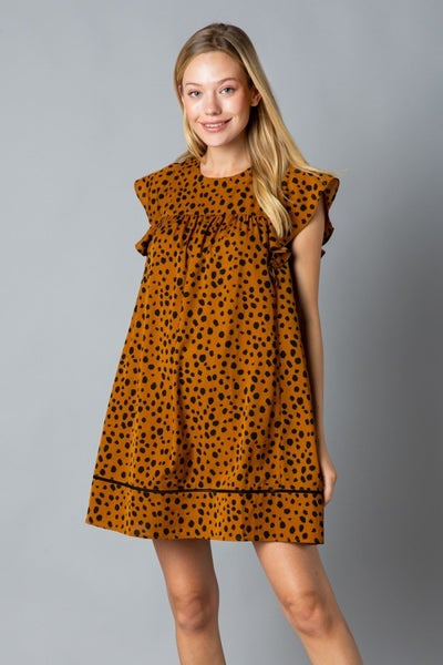 Mustard Leopard Dress