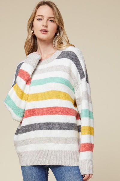 Multi-color Striped Pullover