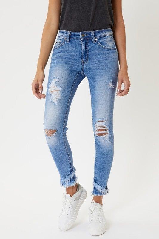 KanCan Distressed Skinny Jeans
