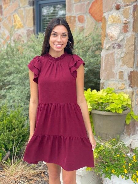 Cranberry Drop Waist Dress