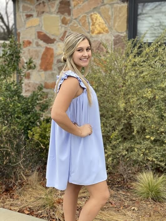 Baby Blue Ruffle Dress