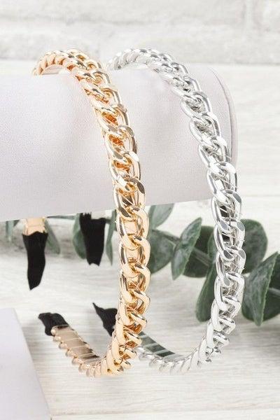 Chain Headband - Gold & Silver