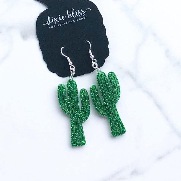 Festive Cactus - Dangly Earrings