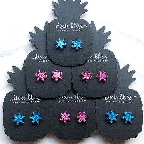 Funky Snowflakes - Stud Earrings