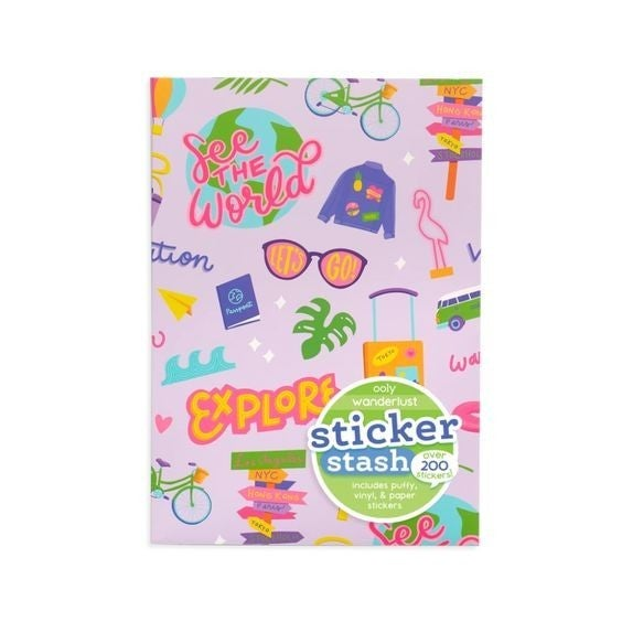 Wanderlust - Stickers Stash - over 200 pieces!