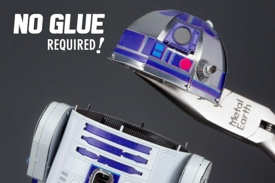 Metal R2D2 Mini Model Build Kit - No glue required!