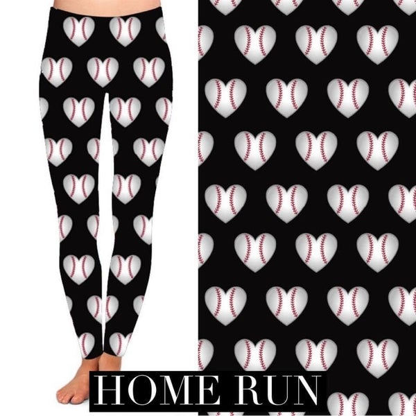Kids + Adult: Baseball Love - Leggings w/Pockets - Reg/Plus