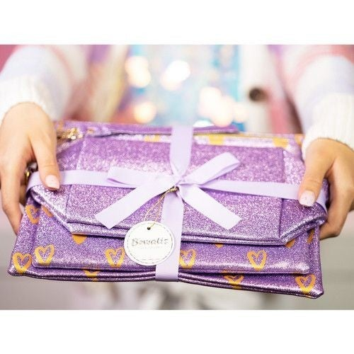 All Dolled Up - Make-Up Bag Trio in Purple