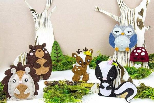 DIY Woodland Creatures Felt Sewing Kit