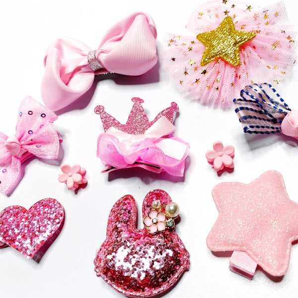 Pink Perfection - 10 Pack of Girls Hair Clips