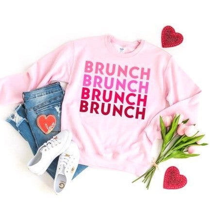 Brunch Love - Crewneck Sweatshirt - Reg/Plus