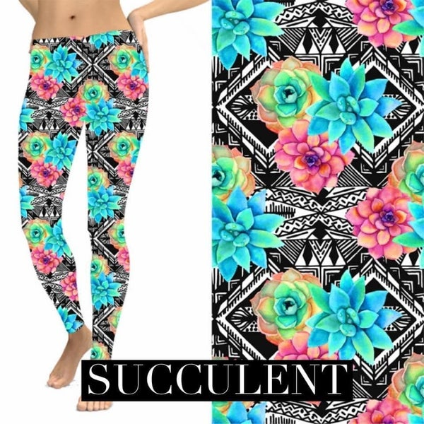 Stunning Succulent - Leggings w/Pockets