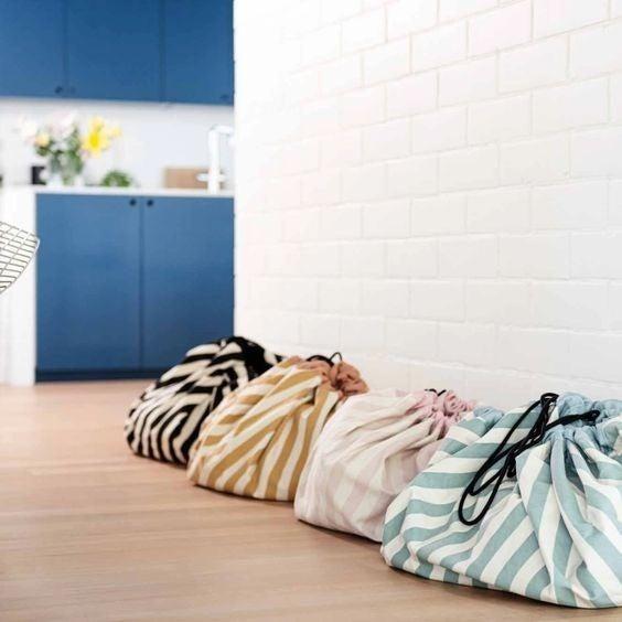 Pink Stripes - Play&Go Toy Storage Bag