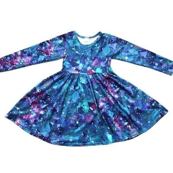 KIDS - Frozen Jewel Splatter - The Girl Next Door Dress