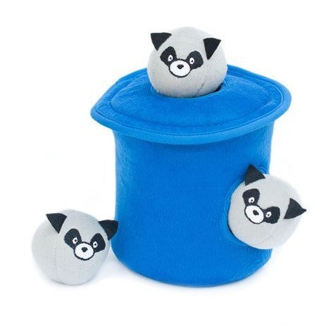 """Trash Pandas"" Racoon Burrow - Dog Toy"