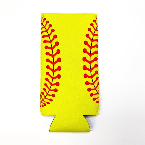 Softball Slim Can Koozie