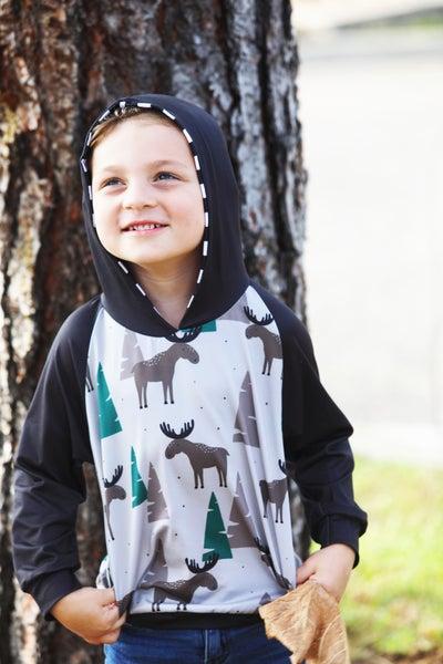 Kids Winter Moose - ComfyCute Hoodie