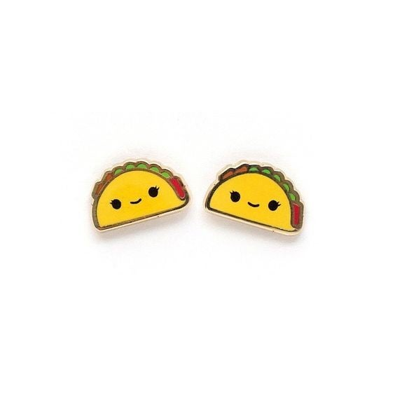 We're Getting Tacos - 22k Gold Plated Stud Earrings