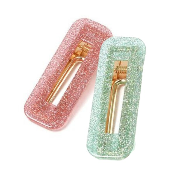 Vintage Style Glitter Acrylic Hair Clip