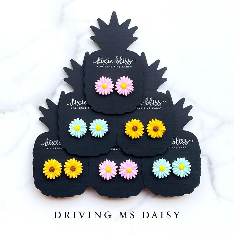 Driving Ms Daisy - Stud Earrings