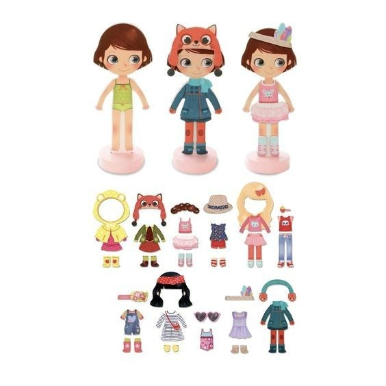 Chloe's Dressing Room Magnetic Doll Playset