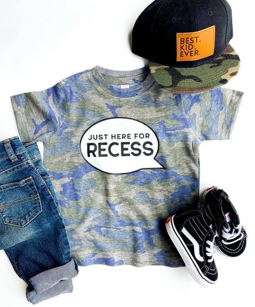 Kids - Just Here For Recess Tee