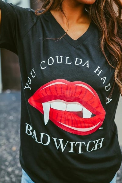 Coulda Had a Bad Witch V-Neck Tee