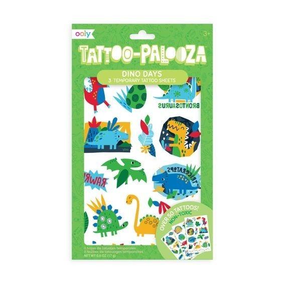 Dino Days - Tattoo-Palooza - Temporary Tattoos - 3 sheets
