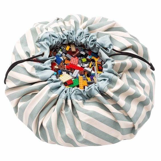 Green Stripes - Play&Go Toy Storage Bag