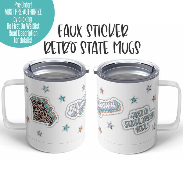 I Love My State Faux Sticker Mug - 15 oz.