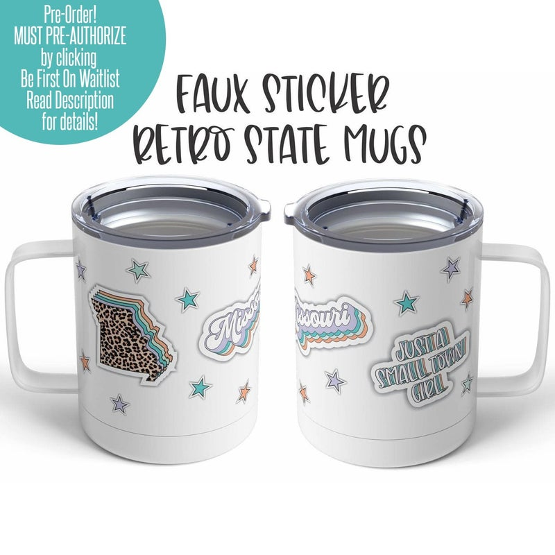 I Love My State Faux Sticker Mug - 15 oz.