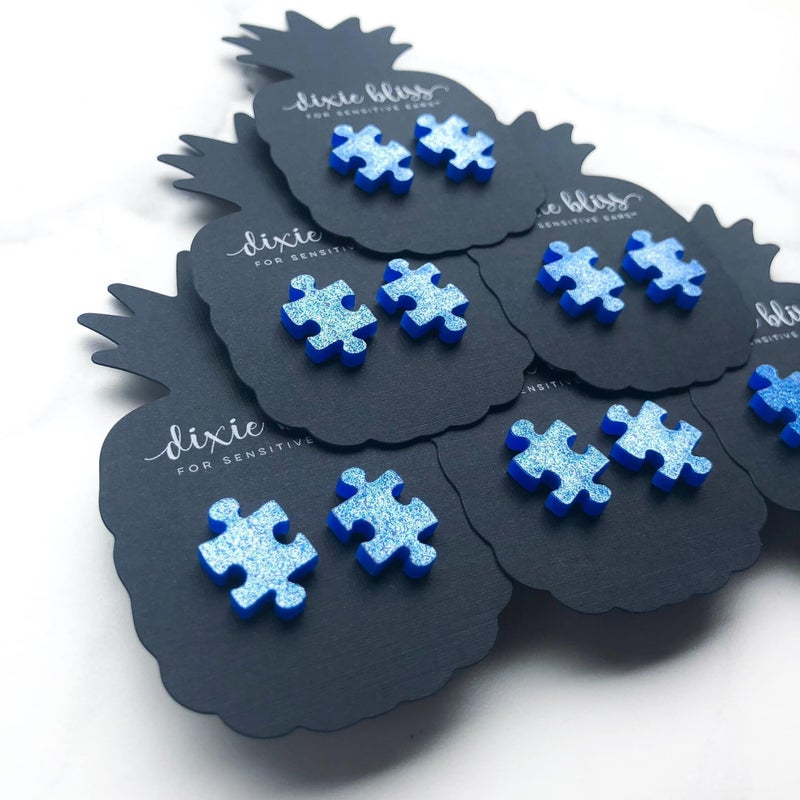 Puzzle Pieces - Stud Earrings