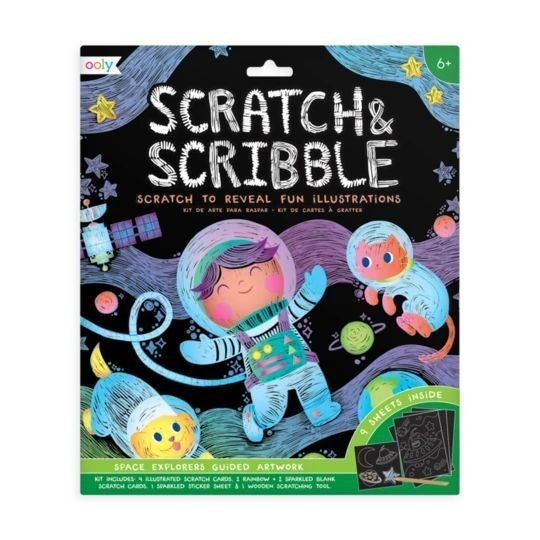 Space Explorer - Scratch and Scribble Scratch Art Kit