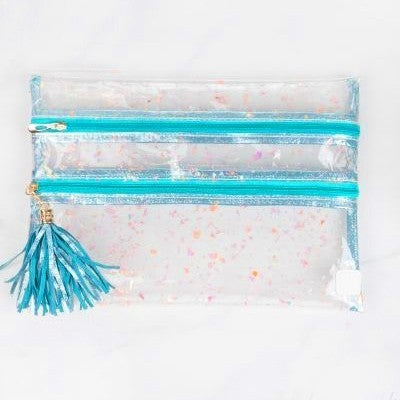 Holographic Confetti Clear - Katie Clutch