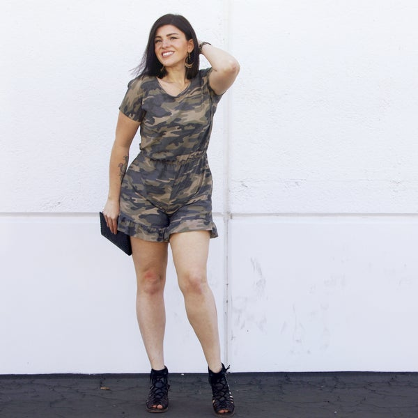 Camo - The Playtime Ruffled Romper - Reg/Plus