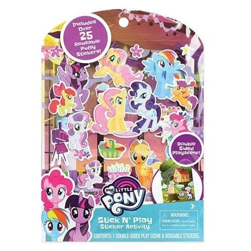 Stick N Play Puffy Sticker Activity Set - My Little Pony