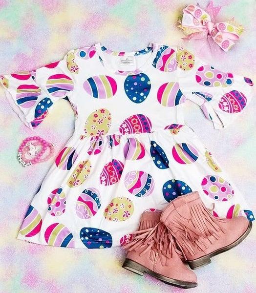 KIDS - Easter Egg Ruffle - The Girl Next Door Dress