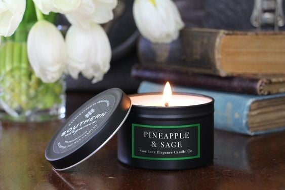 Williamsburg (Pineapple & Sage) - Travel Tin Candle