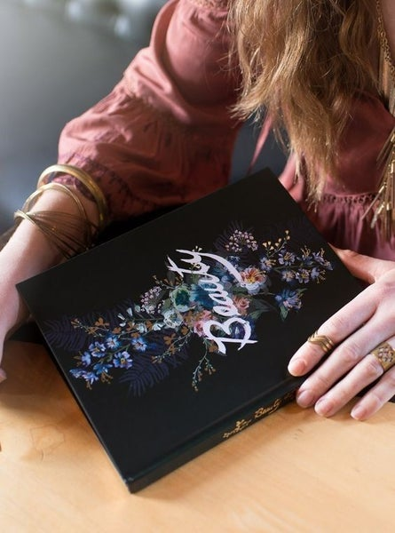 Black Beauty Bouquet - Gilded Edge Lay-Flat Notebook