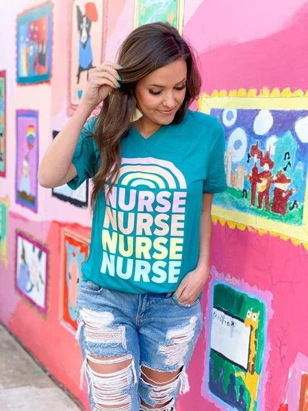 Nurse Rainbow - Unisex Tee - Reg/Plus