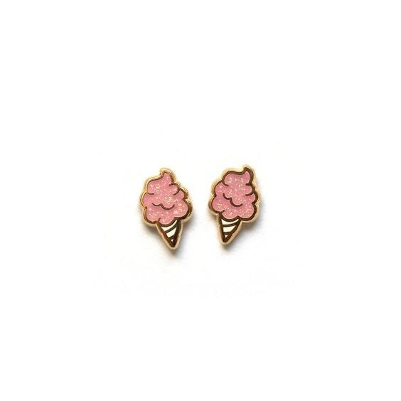 Cotton Candy - 22k Gold Plated Stud Earrings