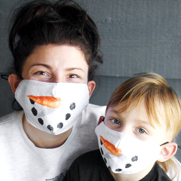 Kids + Adult - Snowman Face Protector